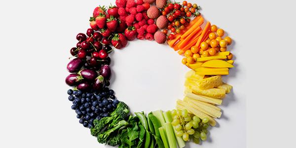 Fruit & vegetable color wheel.